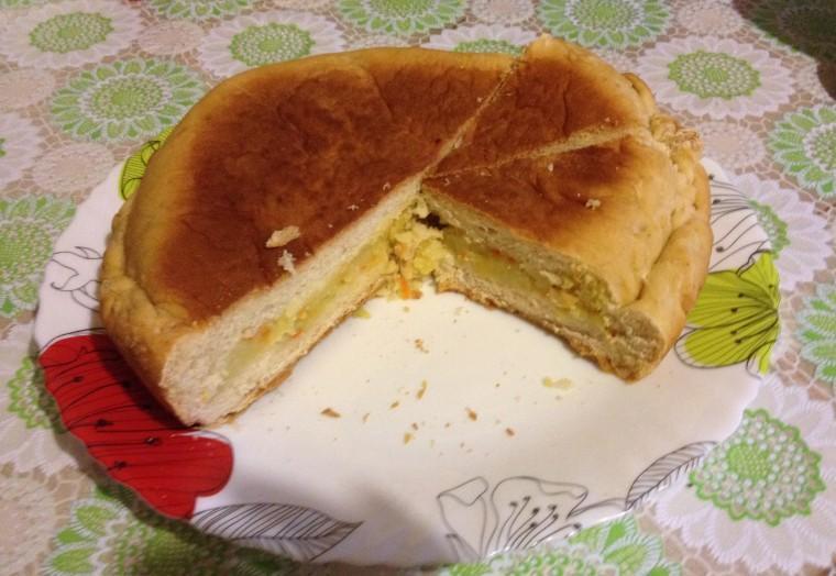 Закрытый пирог с картошкой
