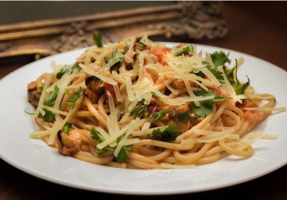 Итальянская паста с морепродуктами 12