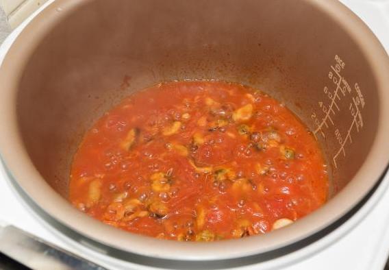 Итальянская паста с морепродуктами 8