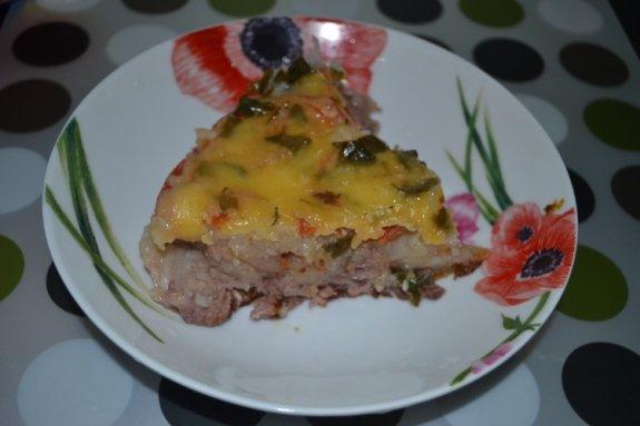 Картофельная шуба с мясом в мультиварке8