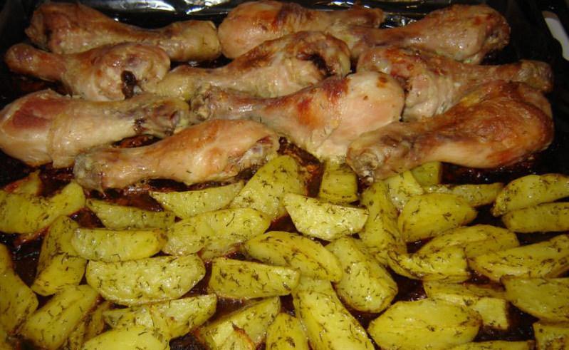 Картофель с окорочками 3