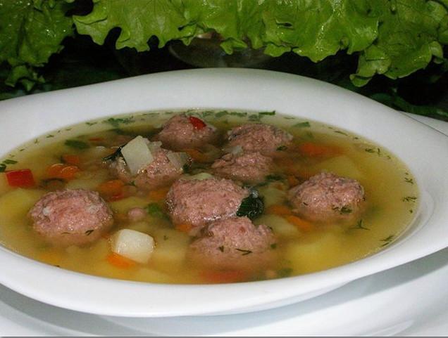 Суп из шампиньонов с фрикадельками 2