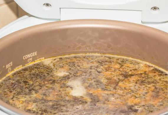 Сырный суп с белыми грибами в мультиварке11