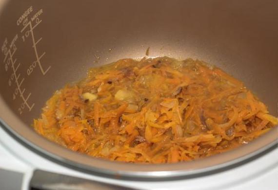 Сырный суп с белыми грибами в мультиварке7