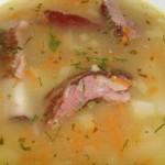 Сырный суп со свиными ребрами в мультиварке