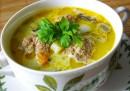 Суп из шампиньонов с фрикадельками в мультиварке