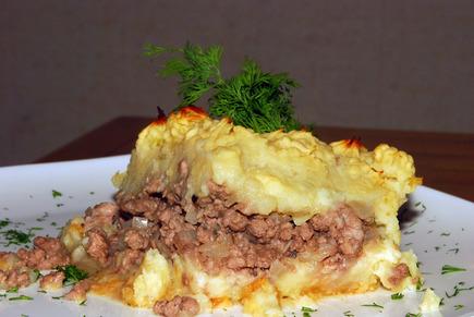 Пирог запеканка из картофеля 6