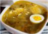 Суп в мультиварке с яйцом и зеленым горошком