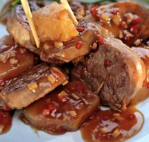 Мясо в чайной подливе