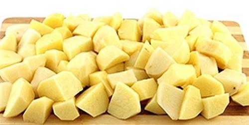 Картофель тушенный с грибами в мультиварке 01