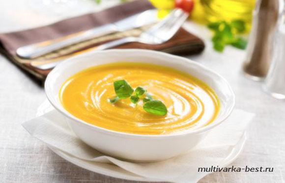 Суп-пюре тыквенный с апельсинами
