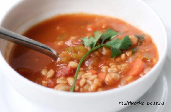 Томатным суп с нутом