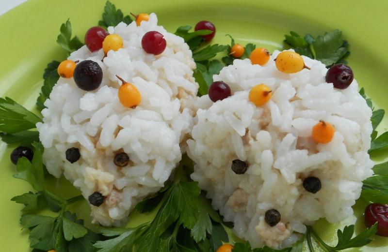 Ёжики с рисом 2