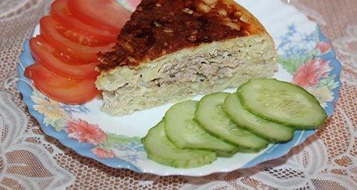 Запеканка из тертого картофеля с мясным фаршем в мультиварке