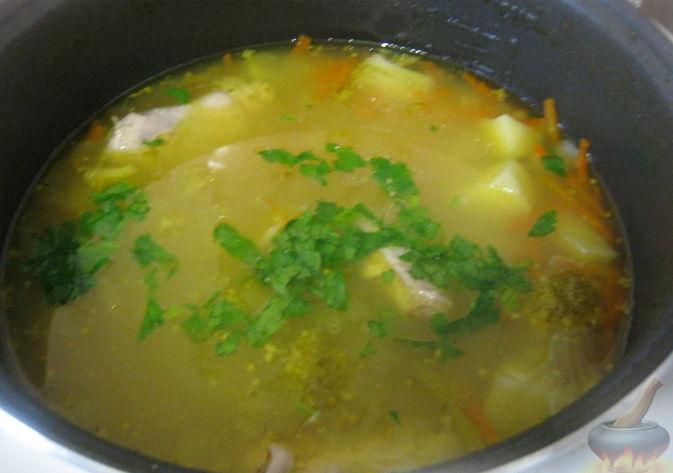 Суп куриный с брокколи в мультиварке10