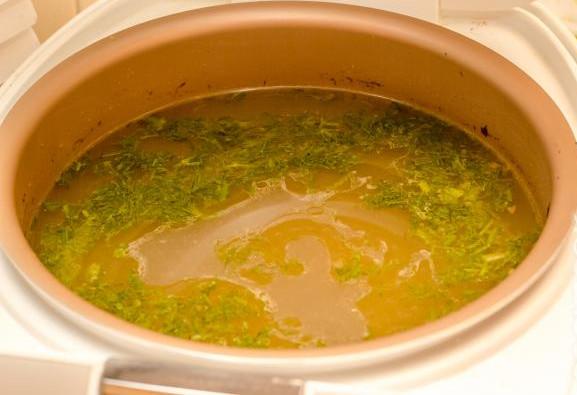 Суп с фрикадельками в мультиварке 12
