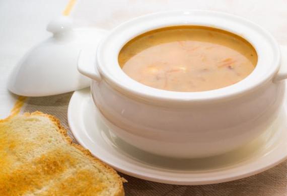 Сырный суп с белыми грибами в мультиварке15