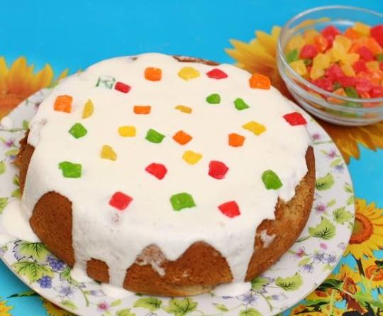 Торт сметанник с ананасом в мультиварке