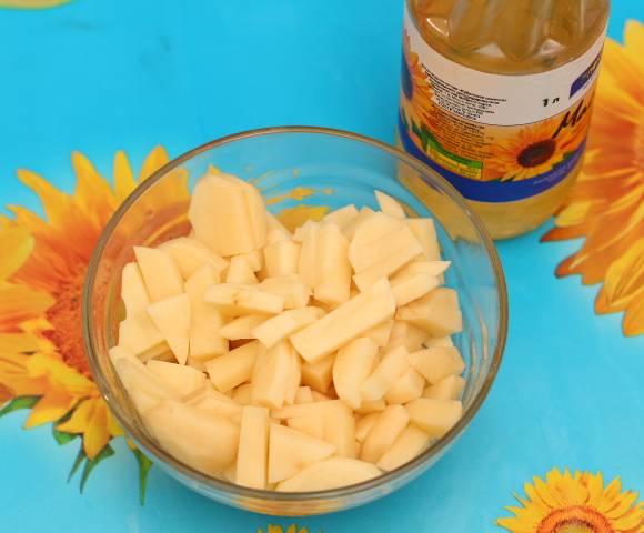 Фасоль тушеная с картошкой в мультиварке 4