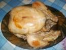 Тушеная курица целиком в мультиварке