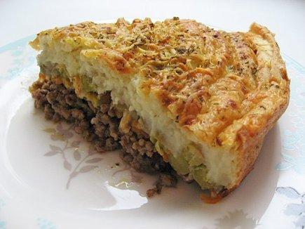 Пирог запеканка из картофеля 1