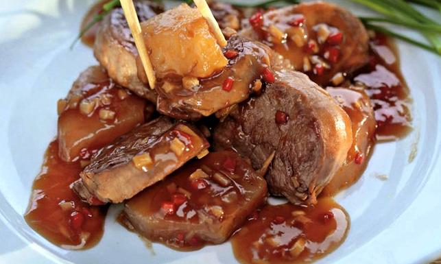 мясо в прозрачном соусе