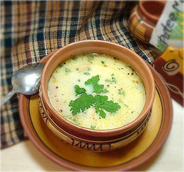 Суп из сырка в мультиварке