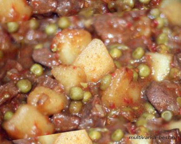 Мясо тушеное с картофелем