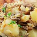 Картофель тушенный с грибами в мультиварке