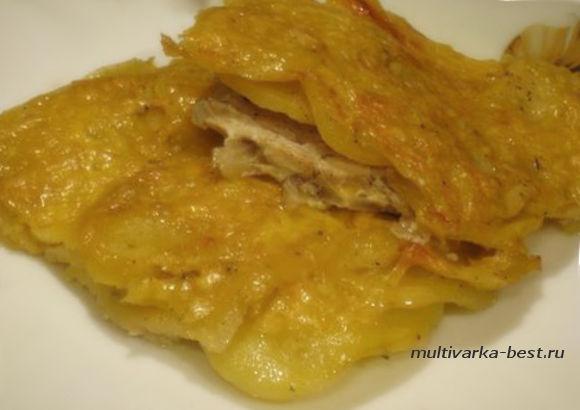 Картофель с курицей по-французски