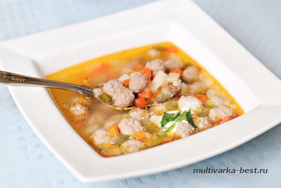 Суп с фрикадельками Детский в мультиварке